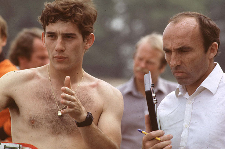 Frank Williams gives Ayrton Senna his first Formula 1 test