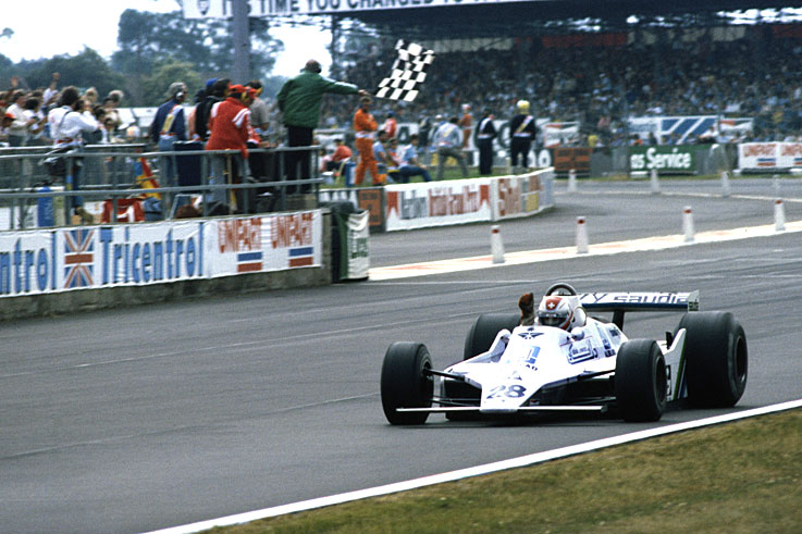 Clay Regazzoni scores Williams' maiden win at Silverstone; the team wins five of the last seven races