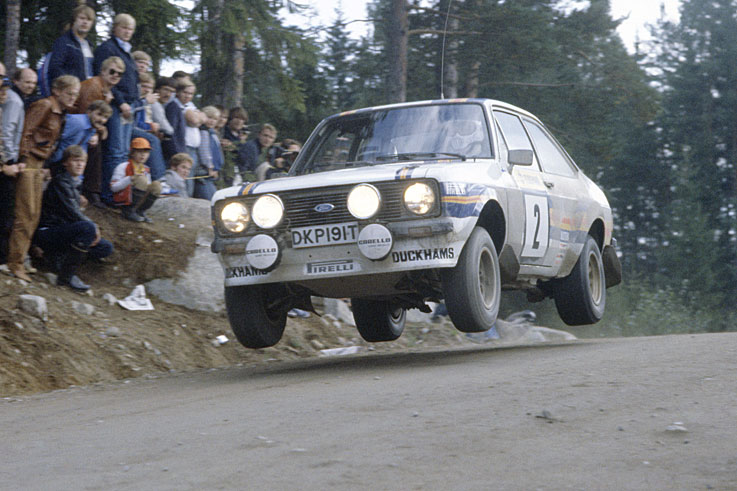 Ari Vatanen wins the World Rally Championship for Ford