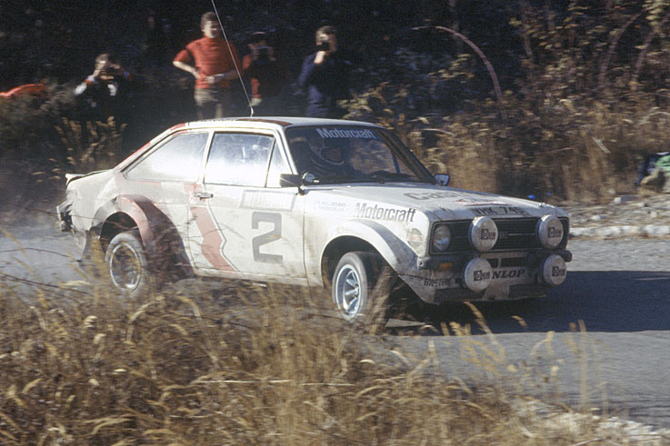 Bjorn Waldegaard won the first World Rally drivers' title by a single point from Hannu Mikkola