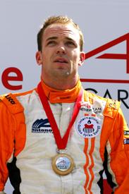 Robert Doornbos on the Algarve A1GP podium