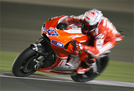 Casey Stoner during the Qatar Grand Prix