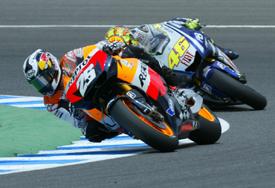 Dani Pedrosa leads at Jerez