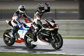 Shoya Tomizawa won in Qatar as Moto2 made its debut