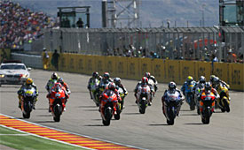 The start of the Aragon GP