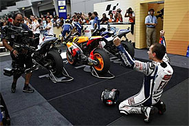 Lorenzo ceebrates his first MotoGP title