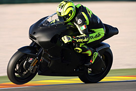 Valentino Rossi melted Italian hearts and servers when first he rode the Ducati on Tuesday