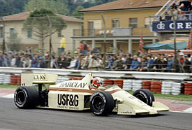 Marc Surer in his Arrows at Imola in 1986, two races before his F1 career ended