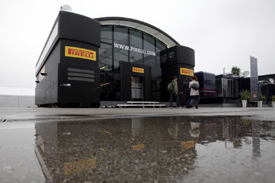 A wet debut for Pirelli's new motorhome