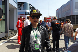 MotoGP superstar Jorge Lorenzo checks out the F1 paddock