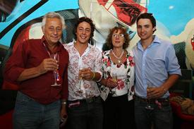 Bob Constanduros celebrates his milestone with his family
