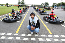 Karun Chandhok karting