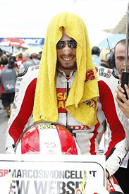 Simoncelli in typical form on the grid for what would be his final start