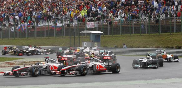 Hungarian grand prix start 2011