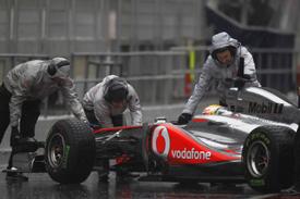Testing was miserable for McLaren