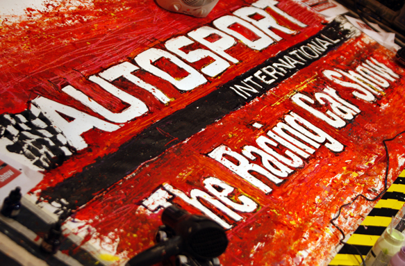 Autosport international painting
