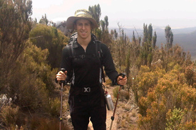 A nine-hour hike, while suffering from altitude sickness, greeted Sims on day four