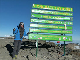 Sims reaches the summit
