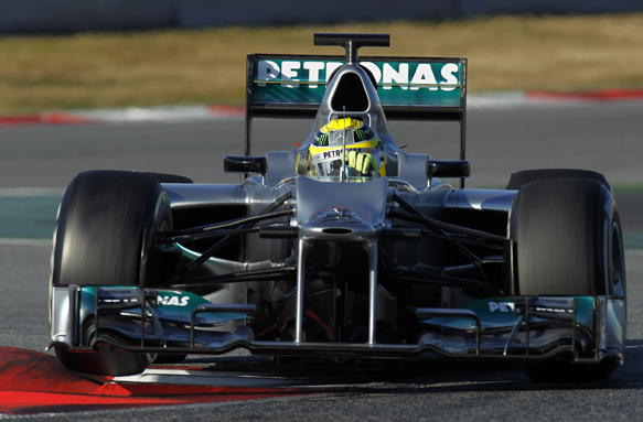 Mercedes Nico Rosberg Barcelona F1 test 2012