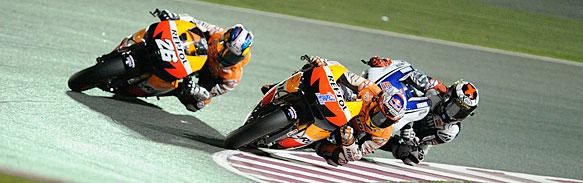 This year's three championship contenders? Stoner, Pedrosa and Lorenzo
