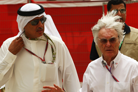 Circuit boss Zayed Alzayani and F1 supremo Bernie Ecclestone faced a busy weekend