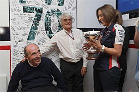 Williams smiles as he celebrates his 70th birthday