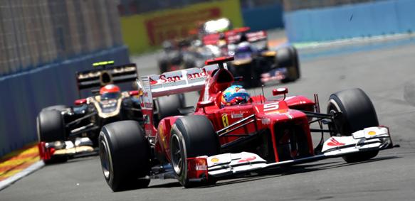 Fernando Alonso Ferrari 2012 European Grand PRix Ferrari
