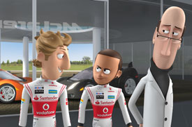 McLaren cartoon Hamilton Button