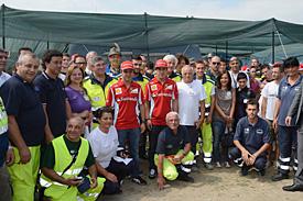 Ferrari's drivers visited the the earthquake zone