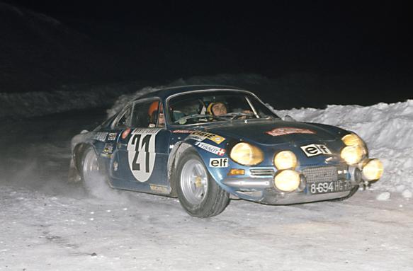Jean-Pierre Nicolas Alpine 1973 Monte Carlo Rally WRC