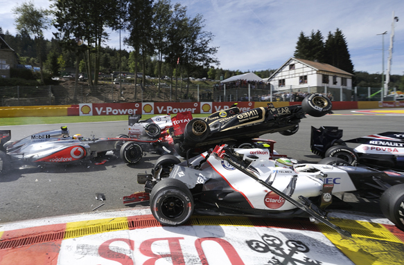Belgian Grand Prix start crash 2012