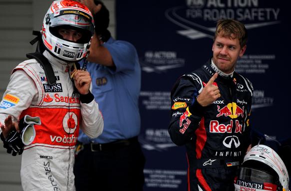 Jenson button McLaren Sebastian Vettel Red Bull 2012 Japanese Grand Prix 2012