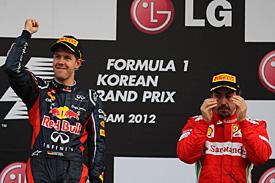 Vettel comemora a vitória