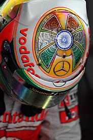 Hamilton's new helmet design