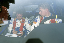 Wood on the notes for McRae on the 1995 RAC