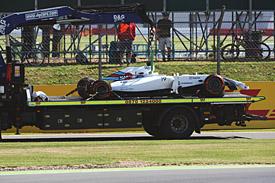 Felipe Massa wreckage, British GP practice 2014