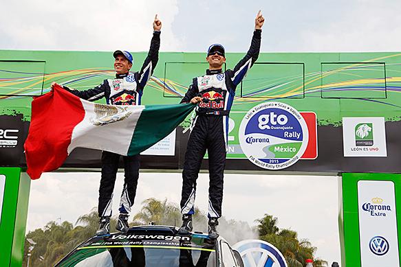 Sebastien Ogier wins Rally Mexico 2015