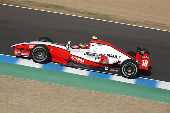Jules Bianchi, ART, Jerez GP2 testing October 2009
