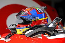 Juan Pablo Montoya's helmet and HANS device
