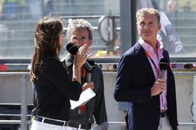 Suzi Perry, Eddie Jordan and David Coulthard fronted BBC's coverage in 2015