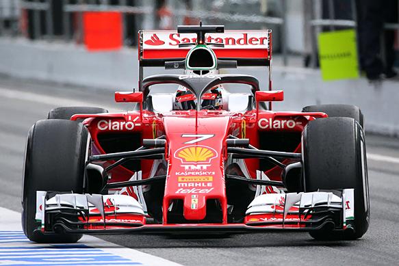 Kimi Raikkonen, Ferrari, Barcelona F1 testing 2016, halo test